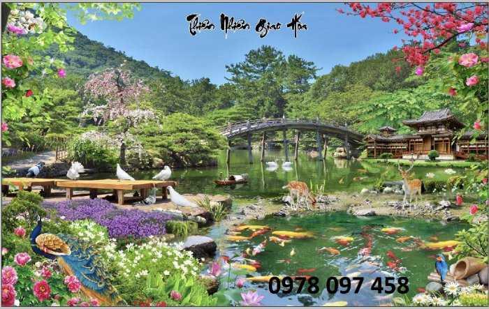 Tranh phong cảnh thiên nhiên giao hòa1