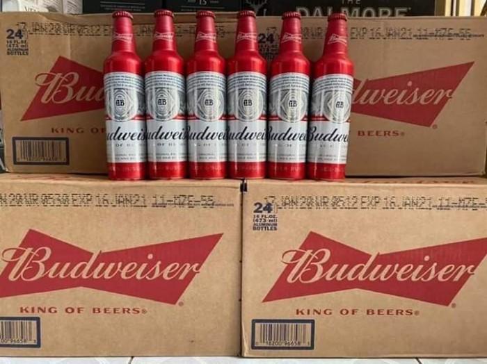 Bia Budweiser Nhôm 473ml - Bia nhập khẩu ở TPHCM, chuyên bia nhập khẩu các loại