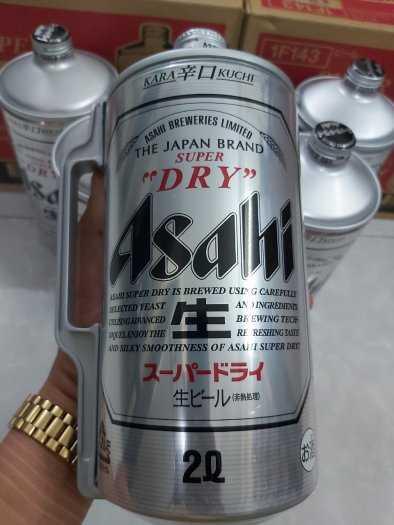 Bia Asahi Bom 2L,Nhập Khẩu Nhật Bản2
