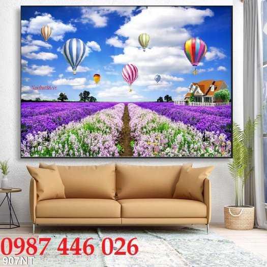 Tranh gạch men  vườn hoa 3d, tranh rừng hoa