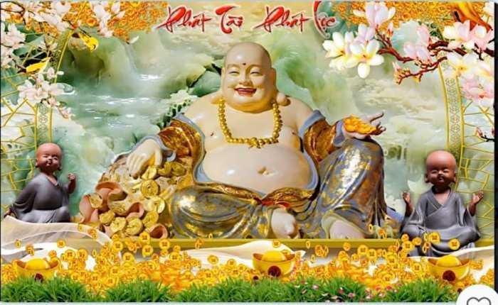 Gạch tranh Phật ốp phòng thờ HP6921