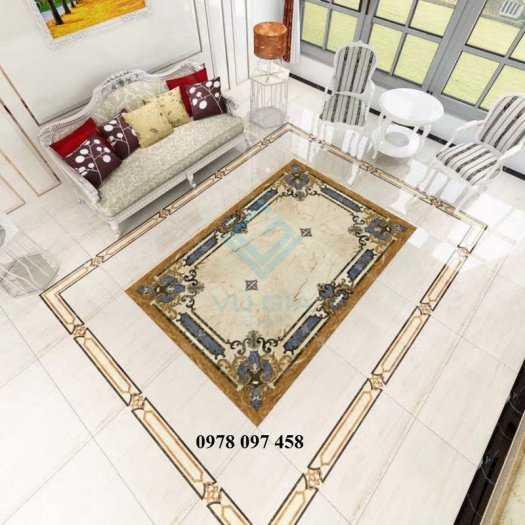 Gạch thảm phòng khách- thảm 3D