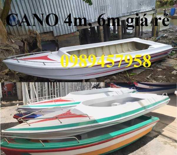 Thuyền chèo composite chở 3 người, Cano 4m và 6m giá rẻ4