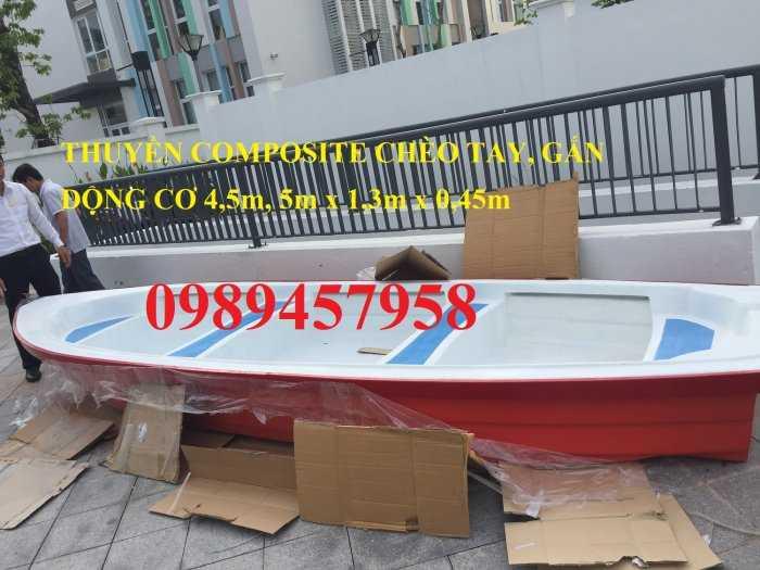 Thuyền chèo composite chở 3 người, Cano 4m và 6m giá rẻ2