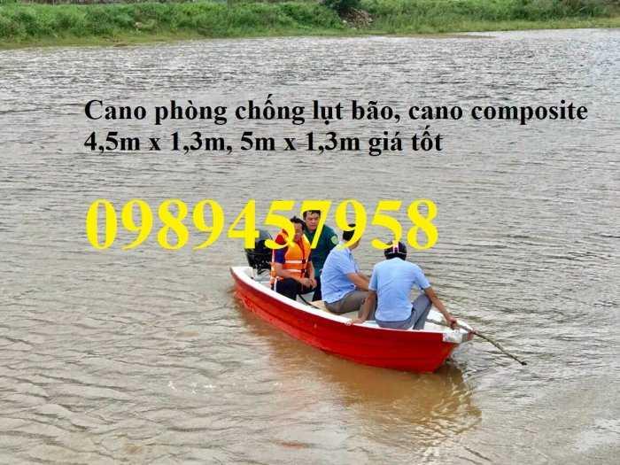 Thuyền chèo composite chở 3 người, Cano 4m và 6m giá rẻ1