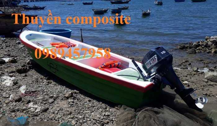 Thuyền chèo composite chở 3 người, Cano 4m và 6m giá rẻ0