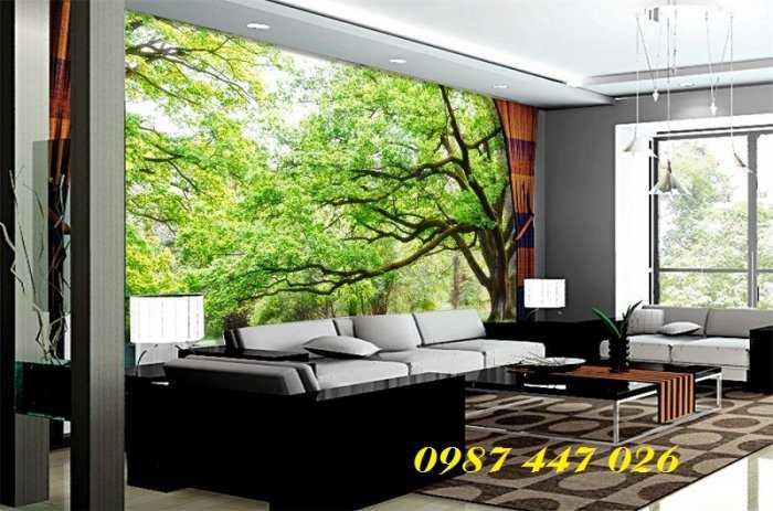 Gạch tranh 3d phòng khách HP5927