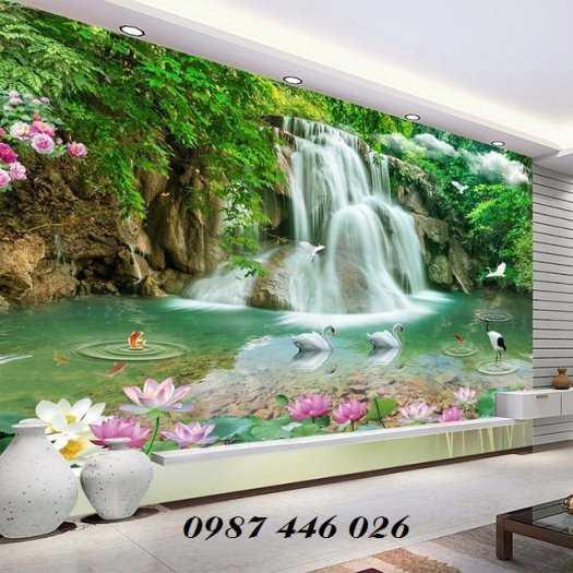 Gạch tranh 3d phòng khách HP5926