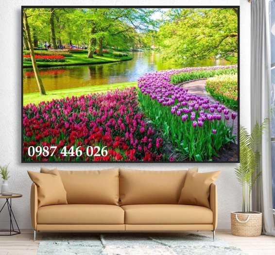 Gạch tranh 3d phòng khách HP5928