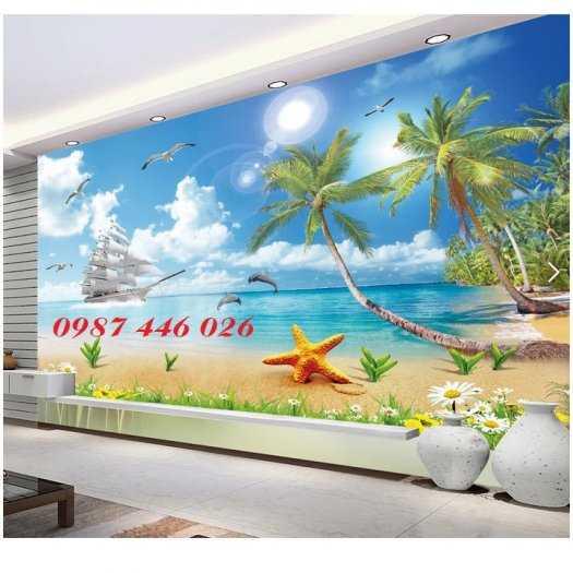 Gạch tranh 3d phòng khách HP5921