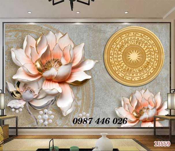 Gạch tranh 3d phòng khách HP5924