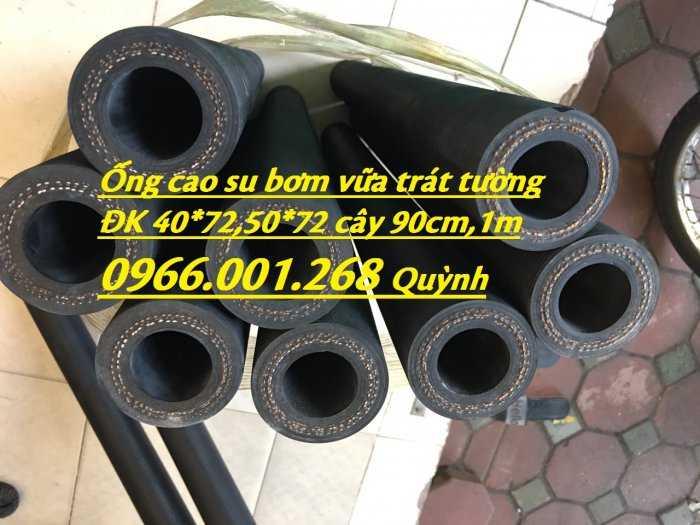 Ứng dụng của ống cao su bơm vữa, ống chuyên dùng cho máy phun vữa trát tường ĐK 40x70mm