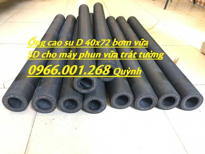 Ống cao su phun vữa trát tường , ống dùng cho máy phun bê tông công trình D40x70 cây 93cm,1mét sẵn