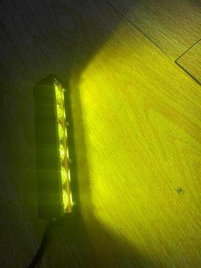 Đèn Trợ Sáng 6 Led Vàng Dài Kiểu Dáng Hammer Led Bar 20cm nhỏ gọn0