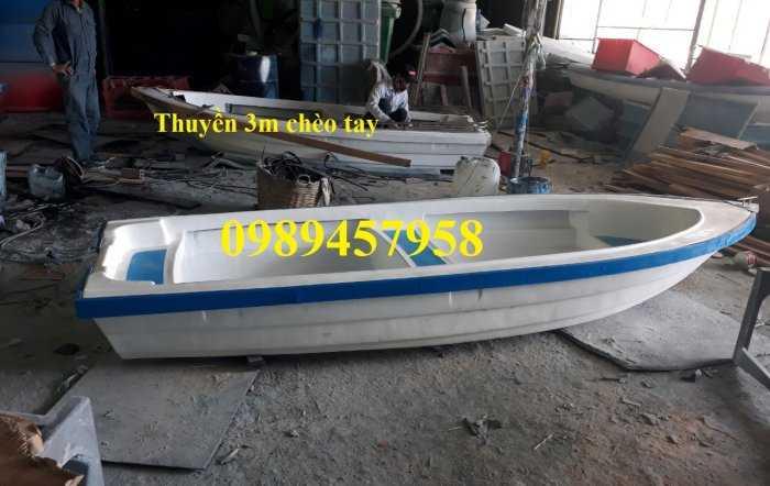 Thuyền nhựa chèo tay 3m, thuyền có mái che, Thuyền du lịch5