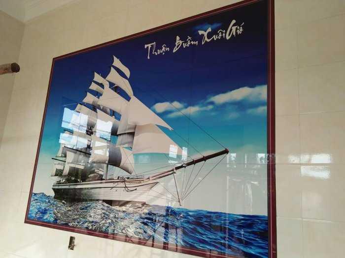 Tranh 3D thuận buồm xuôi gió