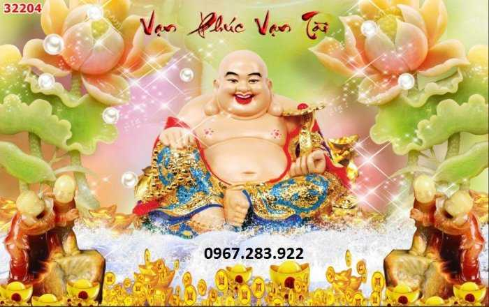 Gạch tranh- Tranh phong thuỷ Phật Di Lặc