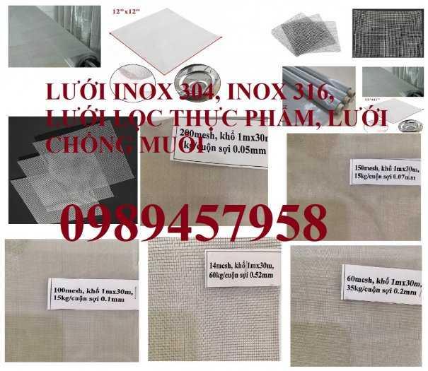 Lưới đan inox 1ly, 1,2ly,1,5ly, 2ly ô 5x5, 8x8, 12x12, 15x15, 20x207