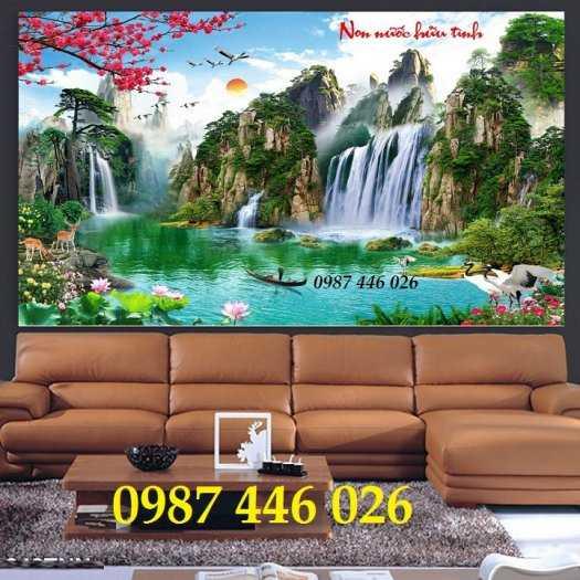 Tranh thác nước, gạch tranh 3d trang trí HP70