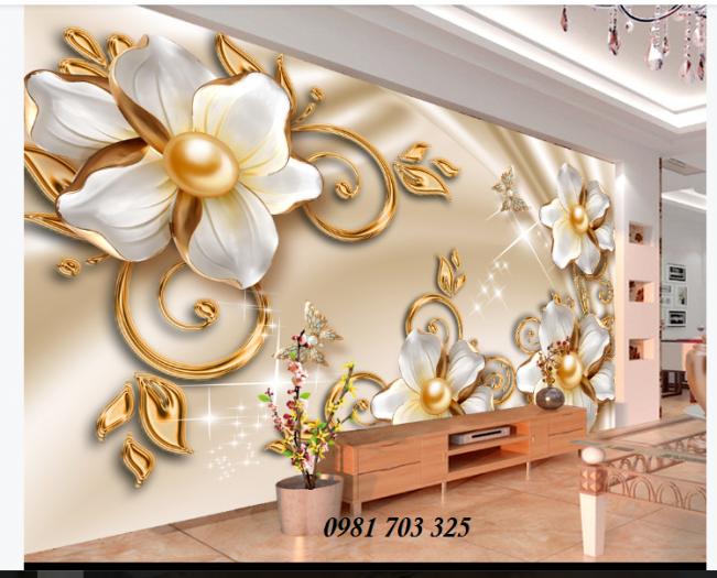 Gạch tranh hoa 3D ốp tường