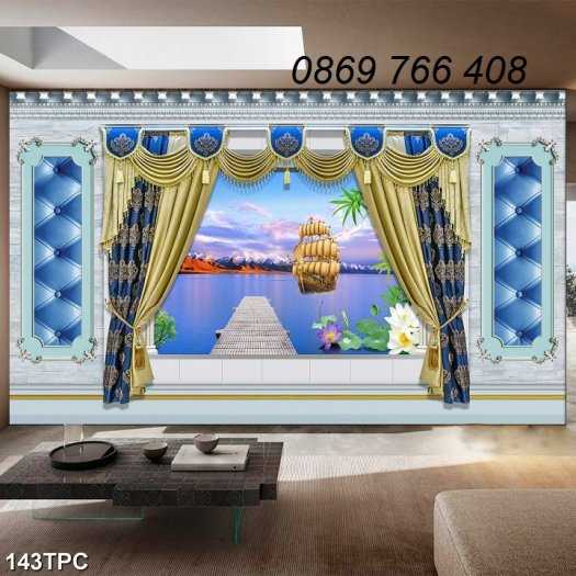 Tranh gạch-Tranh gạch 3D trang trí phòng khách4