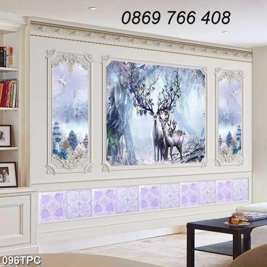 Tranh gạch-Tranh gạch 3D trang trí phòng khách6