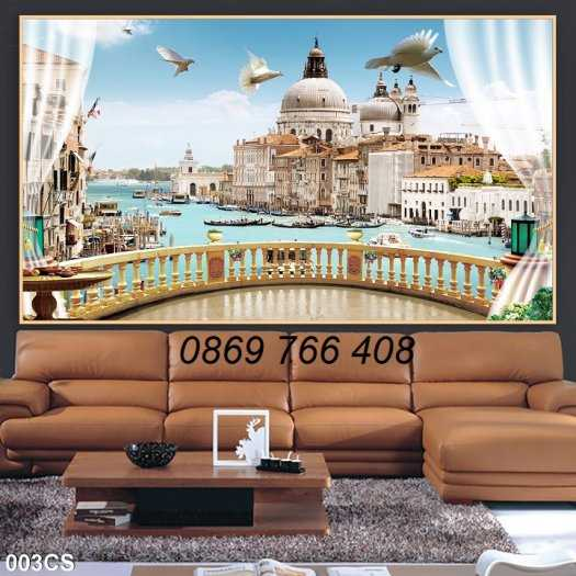 Tranh gạch-Tranh gạch 3D trang trí phòng khách9