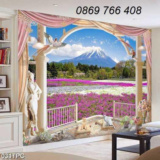 Tranh gạch-Tranh gạch 3D trang trí phòng khách8