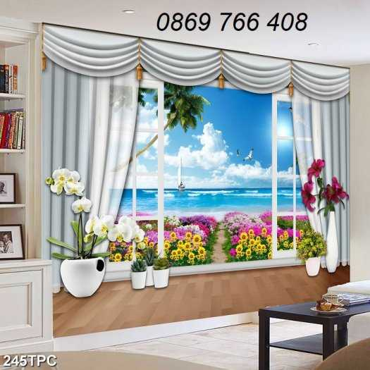 Tranh gạch-Tranh gạch 3D trang trí phòng khách2