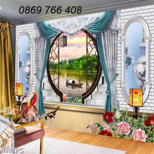 Tranh gạch-Tranh gạch 3D trang trí phòng khách0