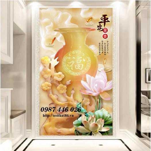 Tranh gạch men bình hoa ngọc HP624