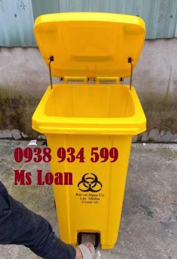 Thùng rác đạp chân 120 lít nhựa hpde4