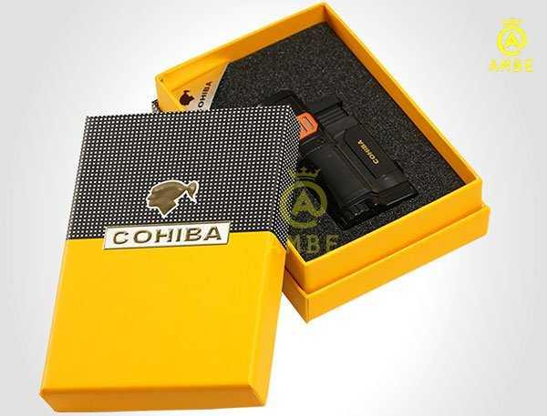 Bật lửa khò xì gà 3 tia Cohiba COB356