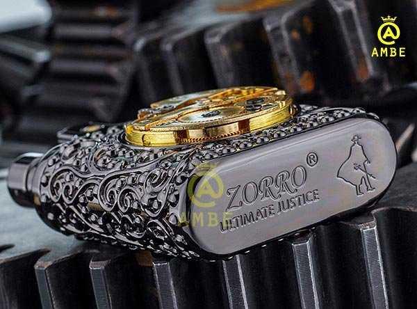 Bật lửa xăng đá Zorro Z582-2035