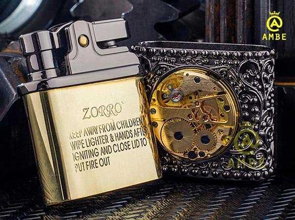 Bật lửa xăng đá Zorro Z582-2033