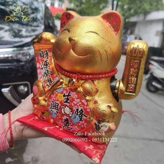Mèo thần tài phong thuỷ vàng kim2