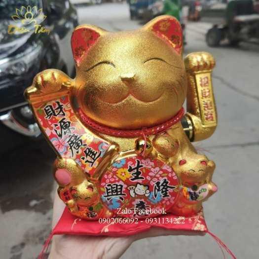 Mèo thần tài phong thuỷ vàng kim4