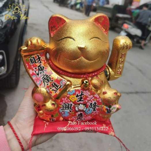 Mèo thần tài phong thuỷ vàng kim1