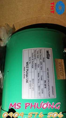 Bán máy bơm tuần hoàn nước nóng Wilo dòng PH giá rẻ1
