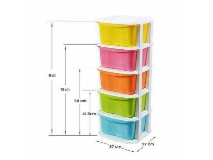 Tủ nhựa đa màu sắc gaga3