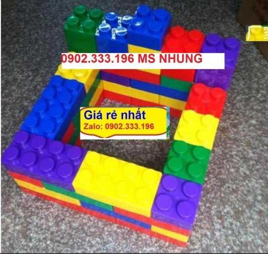 Bán đồ chơi xếp hình bằng nhựa khối lớn, đồ chơi xếp hình khu vui chơi to