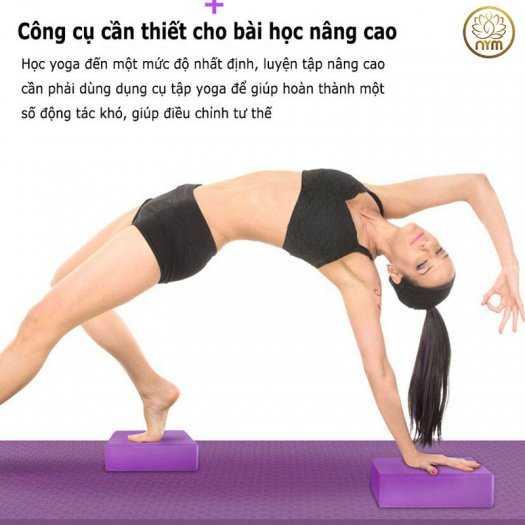 Gạch tập yoga EVA Độ Bền Cao 2 Lớp Cao Cấp6
