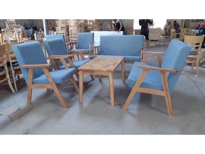 Bàn ghế sofa nệm gỗ giá xưởng0