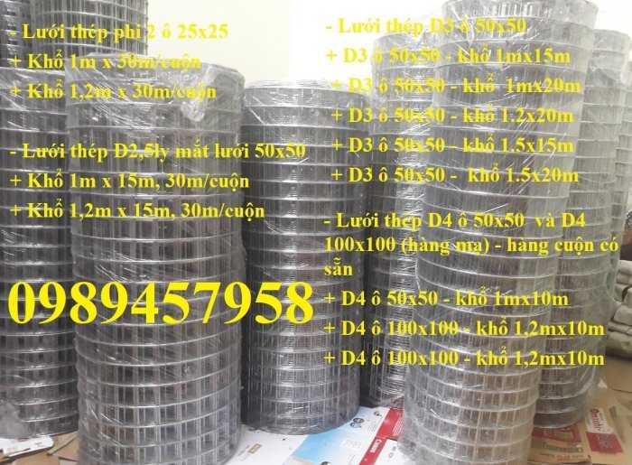 Lưới thép hàn chống thấm D3, D4, Lưới chống nứt bê tông phi 3, phi 4 a 200x200, 250x2509