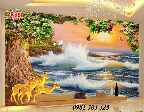Tranh 3D phong cảnh biển