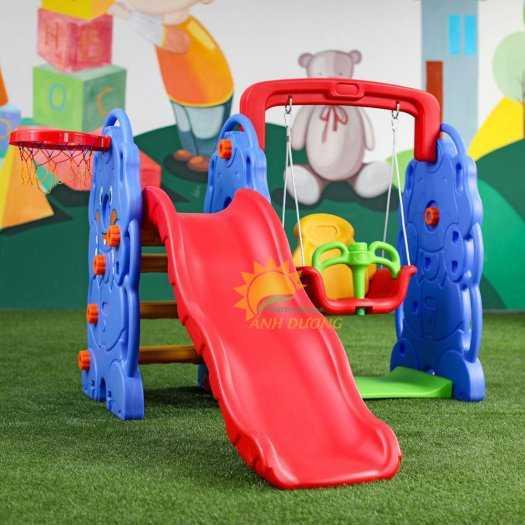 Cầu trượt trẻ em bằng nhựa cho trường mầm non, khu vui chơi, gia đình10