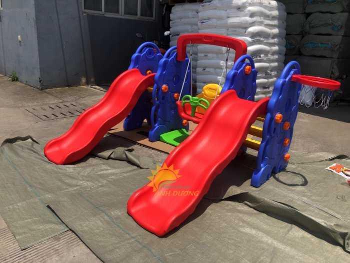 Cầu trượt trẻ em bằng nhựa cho trường mầm non, khu vui chơi, gia đình9