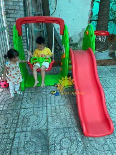 Cầu trượt trẻ em bằng nhựa cho trường mầm non, khu vui chơi, gia đình7