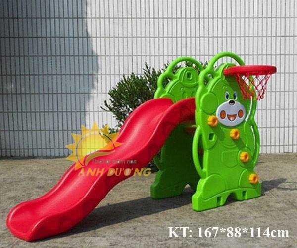 Cầu trượt trẻ em bằng nhựa cho trường mầm non, khu vui chơi, gia đình5