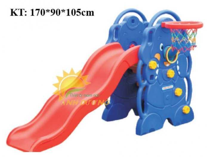 Cầu trượt trẻ em bằng nhựa cho trường mầm non, khu vui chơi, gia đình6